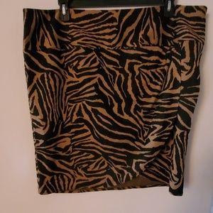 Lane Bryant Animal Print Skirt - 24